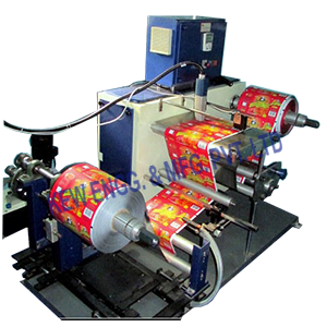 Industrial Inkjet Printer With Winder Rewinder Machine